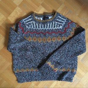 Zara fairisle crewneck sweater